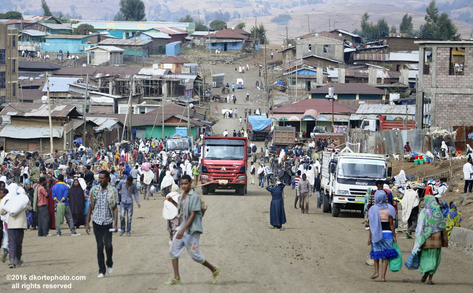 Debark. The gateway to Simien Mountains National Park, Debark is a lively frontier town particularly crowded on Friday morning during market.