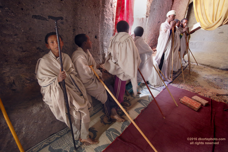 Chanting. A group of boys arrived at Asheton Maryam Monastery and disappeared through a stone door. A mesmerizing chant ensued, drawing me into the chanting room where elders were leading the students in song.