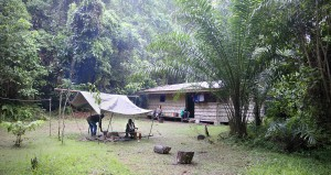 Vera Camp, in the park, is the base of hiking adventures in Sapo.